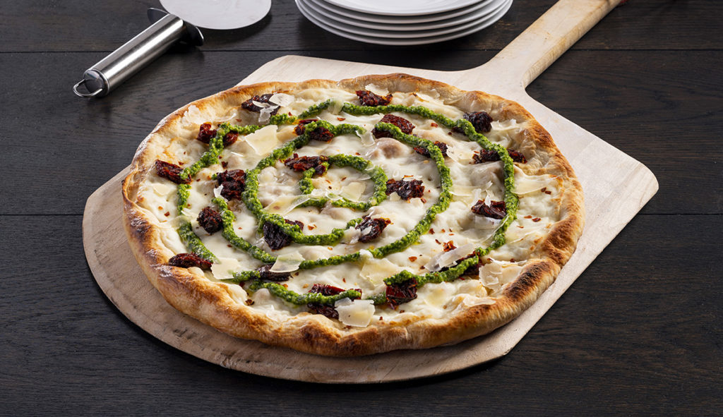 Pesto Pizza featuring Grande Avorio