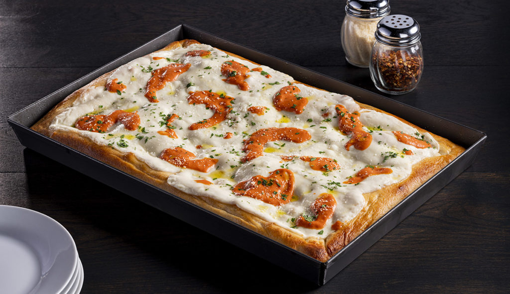 Sicilian Pizza with Vodka Sauce featuring Grande Avorio